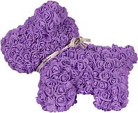 Собака из роз No Brand Rose Dog / 8018 (40см, фиолетовый) -
