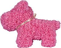 Собака из роз No Brand Rose Dog / 8020 (40см, розовый) -