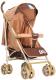 Детская прогулочная коляска INDIGO Lili (бежевый) -