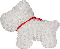 Собака из роз No Brand Rose Dog / 8017 (40см, белый) -