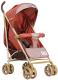 Детская прогулочная коляска INDIGO Lili (красный/коричневый) -