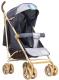 Детская прогулочная коляска INDIGO Lili (серый) -