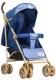 Детская прогулочная коляска INDIGO Lili (синий) -