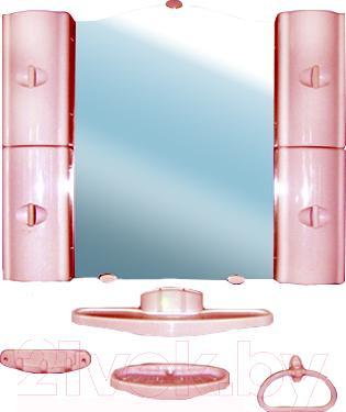 Комплект мебели для ванной Белпласт с318-2830 (вишня) - общий вид