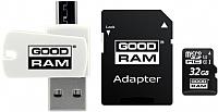 Карта памяти Goodram microSD UHS-I Class 10 32GB / M1A4-0320R12 (с адаптером и картридером) -
