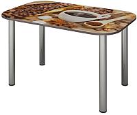 Обеденный стол Senira P-001-02/01-7187 (хром) -