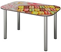 Обеденный стол Senira P-001-02/01-7808 (хром) -