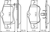 Тормозные колодки Bosch 0986494509 -