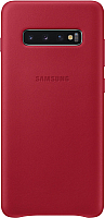 Чехол-накладка Samsung Leather Cover S10+ / EF-VG975LREGRU (красный) -