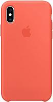 Чехол-накладка Apple Silicone Case для iPhone XS Max Nectarine / MTFF2 -