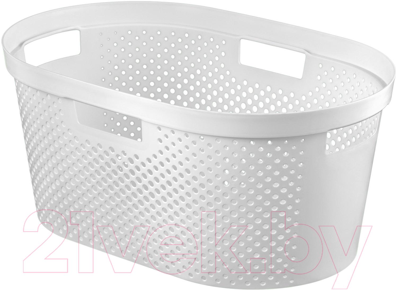 Купить Корзина для белья Curver, Infinity 04755-N23-00 / 231011 (белый), Польша, пластик