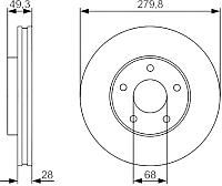 Тормозной диск Bosch 0986479R90 -