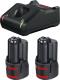 Набор аккумуляторов для электроинструмента Bosch GBA 12V с зарядным GAL 12V-40 (1.600.A01.9R8) -