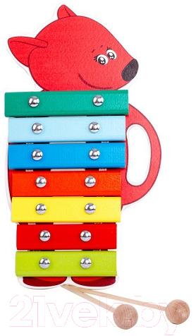 Купить Музыкальная игрушка Ми-ми-мишки, Ксилофон. Лисичка / BBW007, Россия, красный