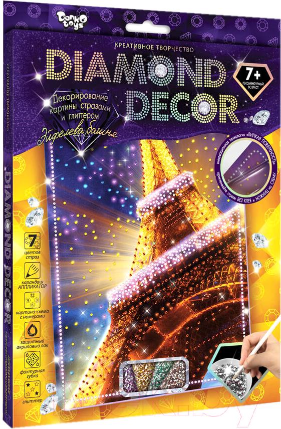 Купить Набор алмазной вышивки Danko Toys, Diamond Decor. Эйфелева башня / DD-01-01, Украина