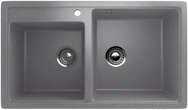 Купить Мойка кухонная Ulgran, U-200 (342 графитовый), Россия, искусственный мрамор