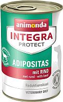 Корм для собак Animonda Integra Protect Adipositas с говядиной / 86408 (400г) -