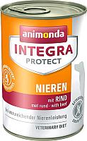 Корм для собак Animonda Integra Protect Nieren с говядиной / 86404 (400г) -