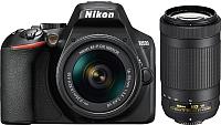 Зеркальный фотоаппарат Nikon D3500 AF-P 18-55mm VR + AF-P 70-300mm VR -