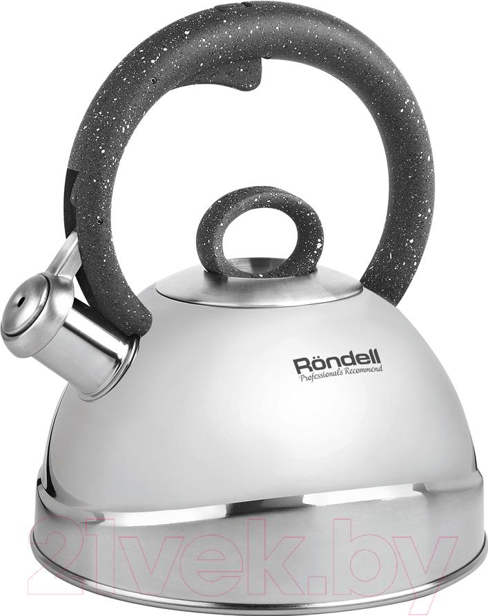 Купить Чайник со свистком Rondell, Marmara RDS-1060, Китай, нержавеющая сталь