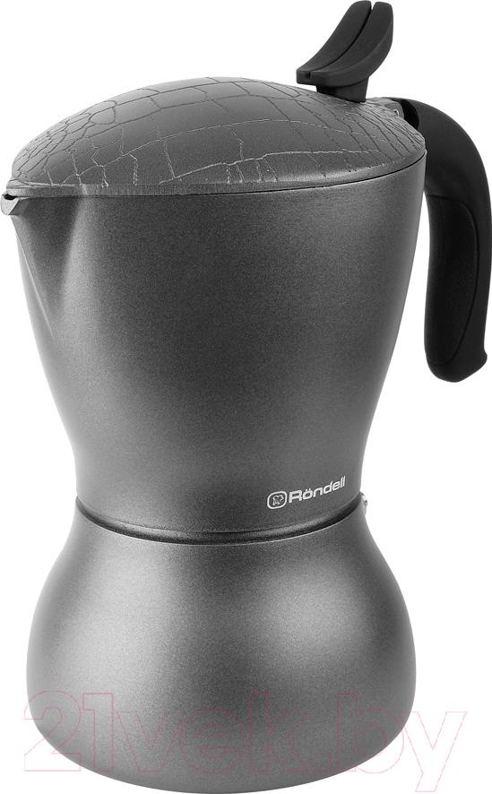 Купить Гейзерная кофеварка Rondell, Escurion Grey RDS-1117, Китай, алюминий