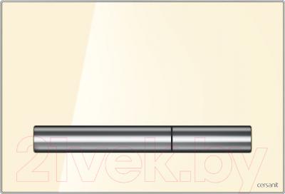 Кнопка для инсталляции Cersanit Pilot P-BU-PIL/Beg/Gl (стекло/бежевый глянцевый)