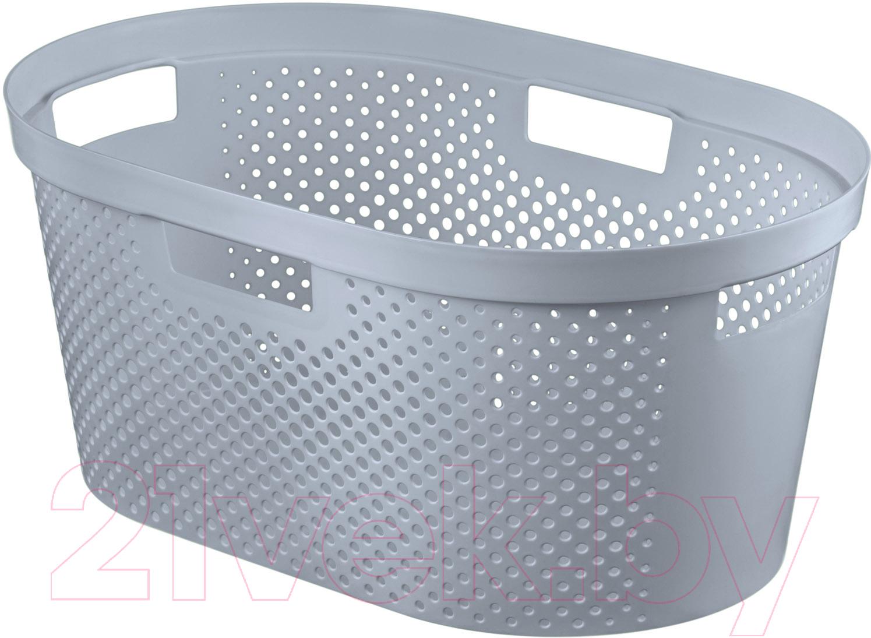 Купить Корзина для белья Curver, Infinity 04755-099-00 / 231009 (серый), Польша, пластик