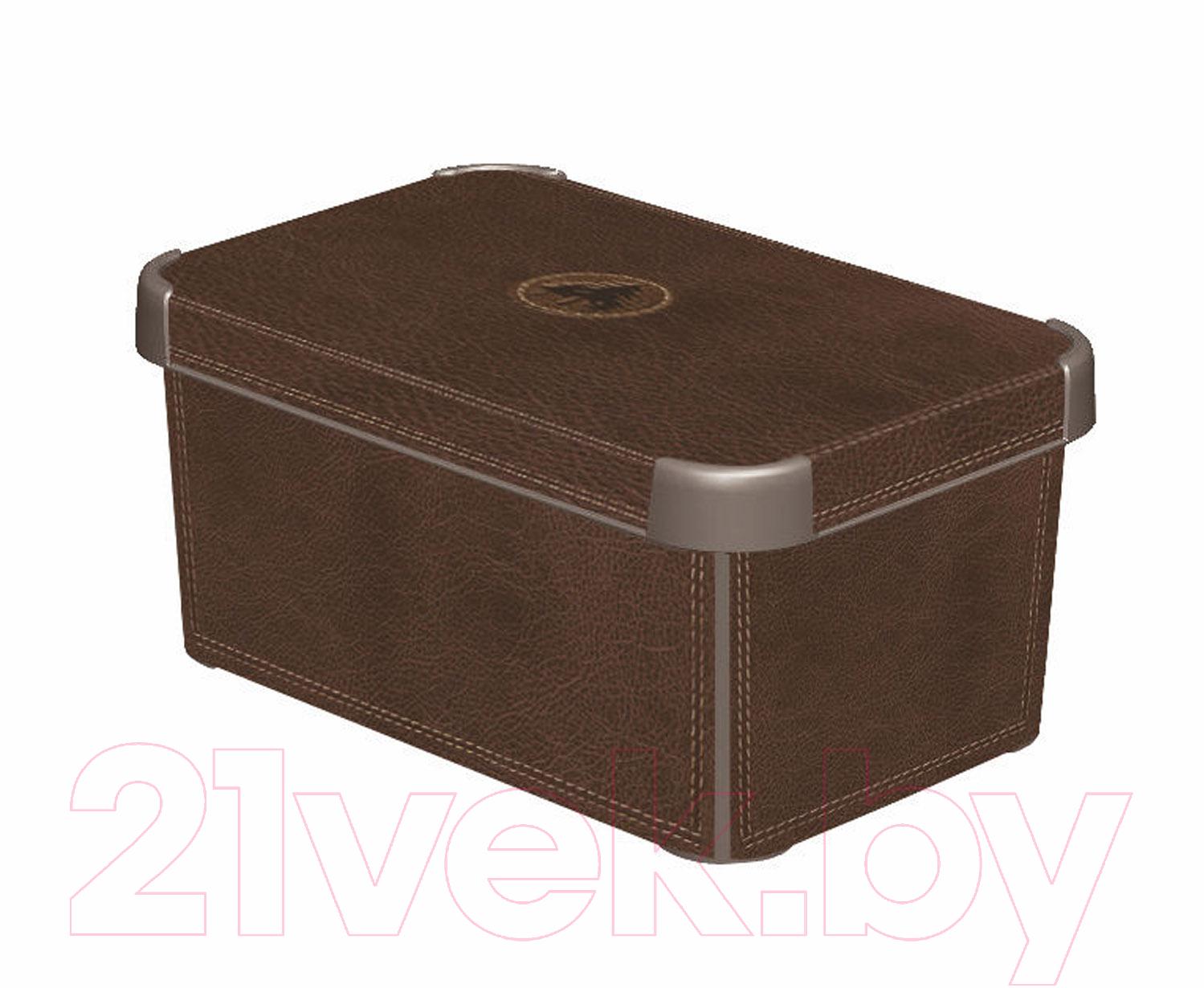 Купить Контейнер для хранения Curver, Deco Stockholm L 04711-D12-05 / 188164 (кожа), Польша, пластик