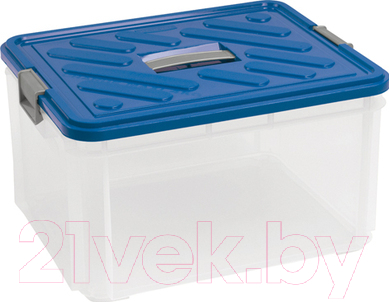 Купить Контейнер для хранения Curver, 05000-134-00 / 168808 (прозрачный/синий), Польша, пластик