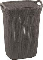 Корзина для белья Curver Knit Laundry Hamper 228410 (серо-коричневый) -