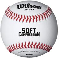 Бейсбольный мяч Wilson Soft Compression / WTA1217B (белый) -