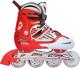 Роликовые коньки Kepai SS-CHIN-F1-V2 (р-р 30-33, красный/белый) -
