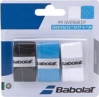 Овергрип Babolat My Grip / 653045-164 (3шт, черный/голубой/белый) -