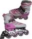 Роликовые коньки Kepai SS-CHIN-STAR-2 (р-р 30-33, розовый/белый) -