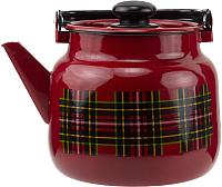 Чайник Лысьвенские эмали Шотландка С-2713 П2/8ВшРч -