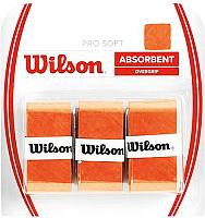 Овергрип Wilson Pro Soft Overgrip / WRZ4040OR (3шт, оранжевый) -