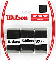 Овергрип Wilson Pro Soft Overgrip / WRZ4040BK (3шт, черный) -