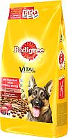 Корм для собак Pedigree Для взрослых собак крупных пород с говядиной, рисом и овощами (13 кг) -