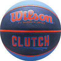 Баскетбольный мяч Wilson Clutch / WTB14197XB07 (размер 7, синий/оранжевый) -