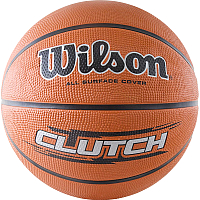 Баскетбольный мяч Wilson Clutch / WTB1434XB (размер 7, оранжевый/черный/серебристый) -