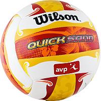Мяч волейбольный Wilson AVP Quicksand Aloha / WTH489097XB (размер 5, белый/желтый/красный) -