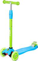 Самокат Ridex Snappy 3D (голубой/зеленый) -