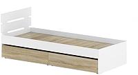 Односпальная кровать Славянская столица Д-Кр800 с ящиками (белый/дуб сонома) -