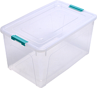 Контейнер для хранения Алеана Smart Box 123086 (прозрачный/бирюзовый) -