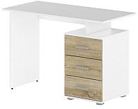 Письменный стол Славянская столица Д-СП1 (белый/дуб сонома) -