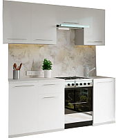 Готовая кухня Настоящая мебель Марта 2.1 (белый) -