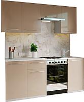 Готовая кухня Настоящая мебель Марта 2.1 (капучино) -