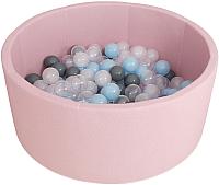 Игровой сухой бассейн Romana Airpool ДМФ-МК-02.53.01 (розовый с серыми шариками) -
