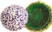 Искусственное растение Green Fly Самшит полусфера Снежинка / СП-1-28 -
