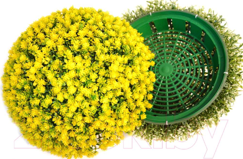 Купить Искусственное растение Green Fly, Самшит полусфера Одуванчик / СП-6-39, Беларусь